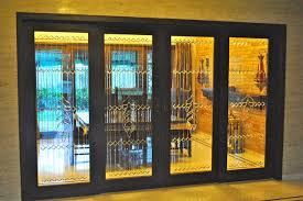 Glass Partition Between Living Room And Kitchen Traditional Glass Partition Design Traditional Ahmedabad By