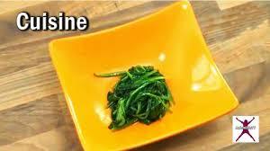cuisiner epinard frais épinards frais cuisson des épinards frais en vidéo