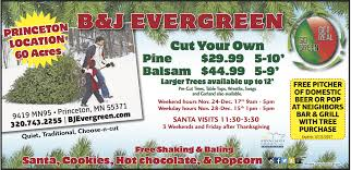 b u0026j evergreen choose and cut princeton bj evergreen