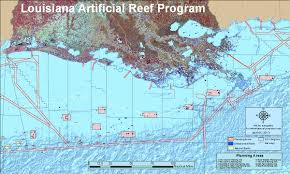 Louisiana State Map by Artificial Reef Program Louisiana Department Of Wildlife And