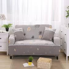 sofa hussen stretch grau farbe blume sofa schonbezug universal stretch l förmigen