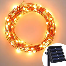 Solar Powered String Lights Patio by Review Solar Powered Copper Wire Lights Avawo 33ft 100 Leds