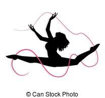 ribbon dancer pink ribbon dancer spin ribbons vectors illustration search