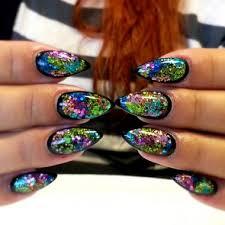 nail art how to framed light elegance glitter nails tutorial