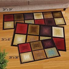 accent rug amazon com optic squares skid resistant accent rug brown 20 x