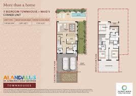 Burj Al Arab Floor Plans Al Andalus Townhouses At Jumeirah Golf Estates Dubai