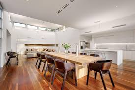 kitchen dining room and living room combined living room modern design kitchen dining living room with wooden dining table also wooden chairs then white ceiling