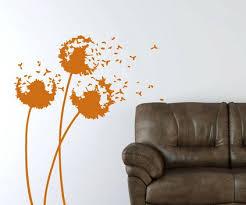 Abstract Orange Flowers Wall Murals In Bedroom Wall Art Decor - Flower designs for bedroom walls