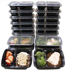 amazon com 20 pack 32 oz 2 compartment food containers durable