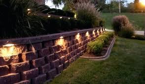 solar retaining wall lights retaining wall lights silhuette bject retaining wall lights solar