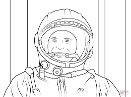 yuri gagarin first human in space coloring page free printable