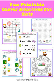 Halloween Crossword Puzzles Printable by Fun Printable Easter Activities For Kids
