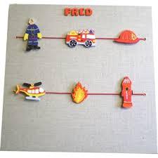 pele mele chambre enfant pêle mêle personnalisé pompier billes de clowns