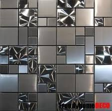Bathroom Wall Tile Designs - silver metal mosaic stainless steel tile kitchen backsplash