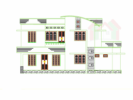 duplex modern house front view with balcony ground and first