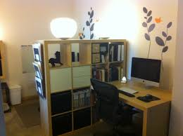 small space solutions room divider creates shared home office space