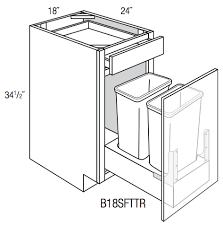 what is the depth of a base cabinet b18sfttr amesbury white base cabinet soft trash pull single door drawer