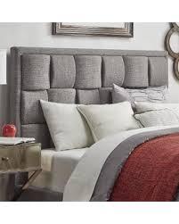 bargains on porter linen woven full upholstered headboard by
