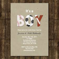 baby shower sports invitations for boy sports boy baby shower invitation digital printable or
