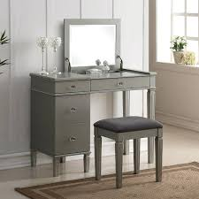 3 Piece Vanity Set Desk 3 Way Mirror Vanity Desk Vanity Mirror Desktop Mirrored