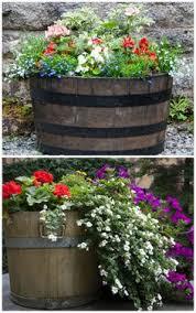 town planter ideas whiskey barrels bing images garden gems