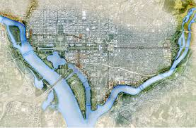 Washington Dc National Mall Map by Asla 2011 Professional Awards Monumental Core Framework Plan