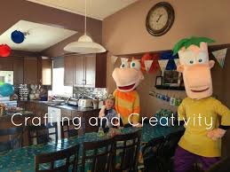 phineas halloween costume crafting and creativity my son u0027s 7th birthday party phineas and
