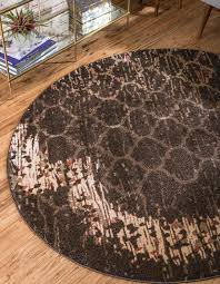 brown 6 u0027 x 6 u0027 trellis round rug area rugs irugs uk