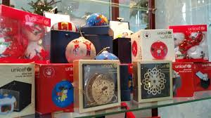 unicef painted glass baubles and ornaments new in