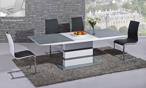 White Glass Extending Dining Table Arctic Extending Dining Table In Grey From Giatalia Extending