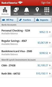 bank of america app for android tablets bank of america app updated with mobile check deposit and