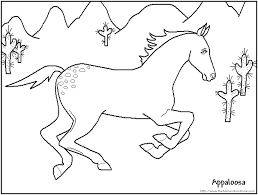 horses color kids coloring