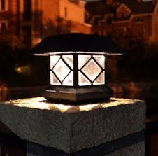 outdoor solar column lights solar outdoor column lights