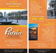 contoh desain brosur hotel wisata liburan jalan jalan brosur hotel cerminan image yang