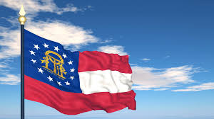 Georgia Flag State Flag Of The State Of Georgia Usa Stock Video Footage Videoblocks