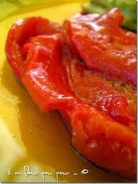comment cuisiner les poivrons rouges poivrons confits mais vraiment confits il en faut peu