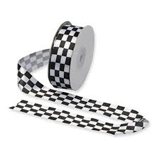 checkered ribbon chequered flag ribbons for cake decorating and crafts the cake