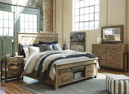 Larimer Upholstered Bedroom Set Sommerford Brown Storage Panel Bedroom Set From Ashley Coleman