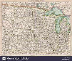 Sd Map Usa Midwest Nd Sd Mi Wi Michigan Indiana Illinois Iowa Mi Ne