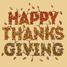 happy thanksgiving day background vector illustration
