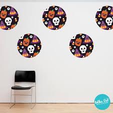 cute halloween cartoon face wall stickers apartment safe u2013 polka