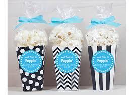 popcorn wedding favors 12 custom popcorn box favors wedding favors personalized