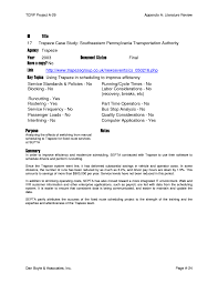 appendix a literature review appendixes to tcrp report 135