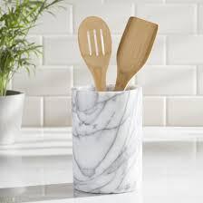 kitchen walnut wood utensil holder for cool kitchen storage ideas