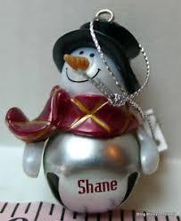 shane jingle bell ganz snowman personalized name ornament ebay