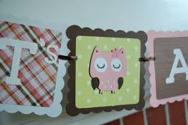 owl it u0027s a banner owl baby shower banner owl theme