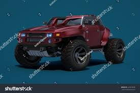 concept off road truck 3d rendering brandless generic concept offroad stock illustration