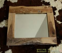 Rustic Bathroom Mirror - remodelaholic diy rustic mirror