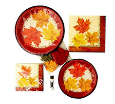 fancy fall autumn disposable dinnerware thanksgiving style paper
