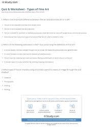 Decorative Definition Quiz U0026 Worksheet Types Of Fine Art Study Com